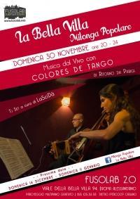 La Bella Villa – Milonga Popolare - 30  novembre  2014