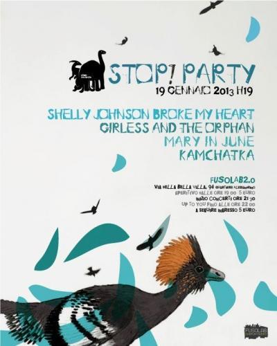 Stop Records Night presenta: Mary In June, Girless & the Orphan, Shelly Johnson Broke My Heart, Kamchakta - Sabato 19 Gennaio