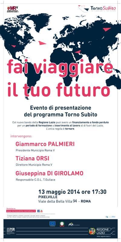 Torno subito tour: presentazione bando Regione Lazio