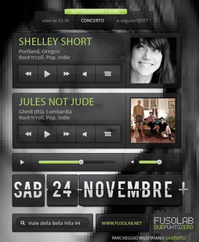 SHELLEY SHORT + JULES NOT JUDE - 24 Novembre