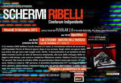 Schermi Ribelli - 148 STEFANO – MOSTRI DELL'INERZIA  di Maurizio Cartolano - Venerdì 14 Dicembre