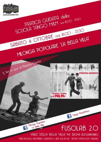 La Bella Villa – Milonga Popolare + Pratica guidata - 4 ottobre