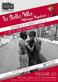 La Bella Villa – Milonga Popolare - 16 Marzo