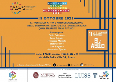 Festival dello sviluppo sostenibile 2021 - 15 Ottobre
