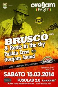 Brusco in concerto con i Roots in The Sky