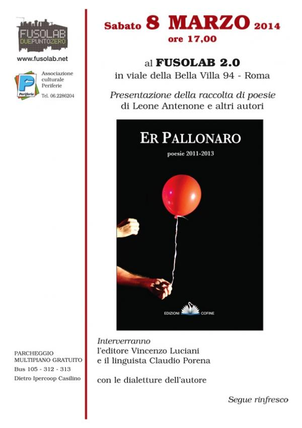 """Presentazione """"Er Pallonaro"""", di Leone Antenone e altri autori."""
