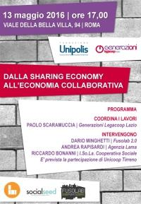 DALLA SHARING ECONOMY ALL'ECONOMIA COLLABORATIVA