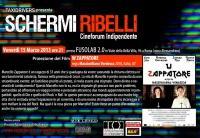 """Schermi Ribelli - Proiezione """"W ZAPPATORE"""" - Venerdì 15 Marzo"""