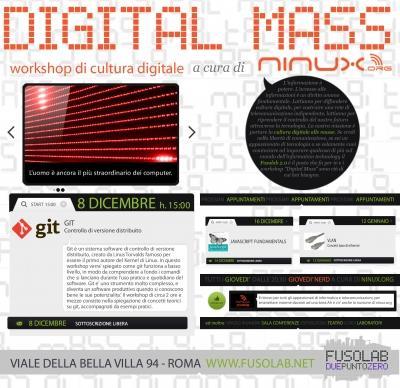 Digital Mass #1: Git Workshop – 8 Dicembre 2012