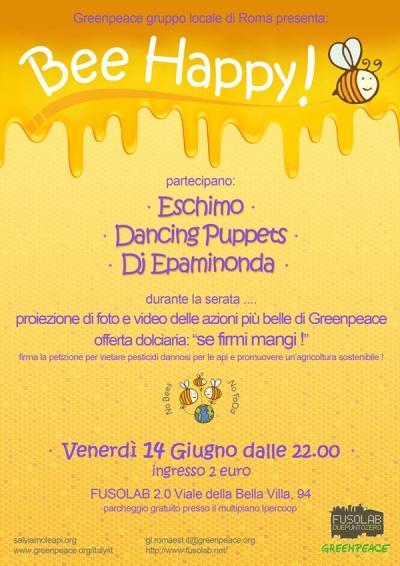 BEE HAPPY - Concerti live Eskimo, Dancing Puppets + Dj set Epaminonda - Venerdì 14 Giugno