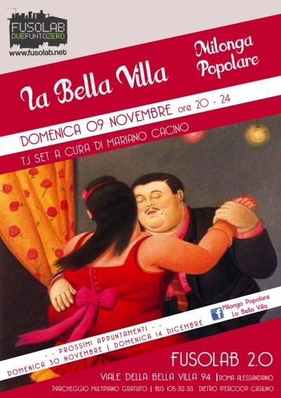 La Bella Villa – Milonga Popolare - 9  novembre