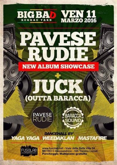 **PAVESE + JUCK** aka **BARACCA SOUND** LADIES FREE Dancehall by Yaga Yaga, Weedaklan & Mastafire