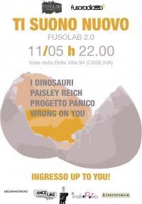 Ti Suono Nuovo (finale): I Dinosauri_Paisley Reich_Progetto Panico_Wrong on you Live - Sabato 11 Maggio