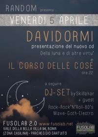 """""""Davidormi"""" + """"Il corso delle cose"""" in concerto - Venerdì 5 Aprile"""