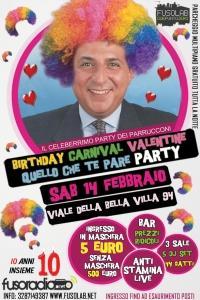 Fusoradio CarnivalBirthday Valentine Quello Che Te Pare Party - Sabato 14 Febbraio
