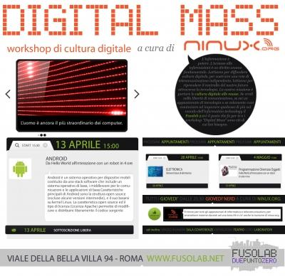 Digital Mass #6: Android: da Hello World all'interazione con un robot in sole 4 ore - Sabato 13 Aprile