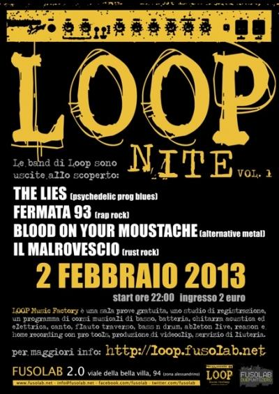 The Lies - Fermata 93 -Blood on your Moustache-Il Malrovescio - Sabato 2 Febbraio