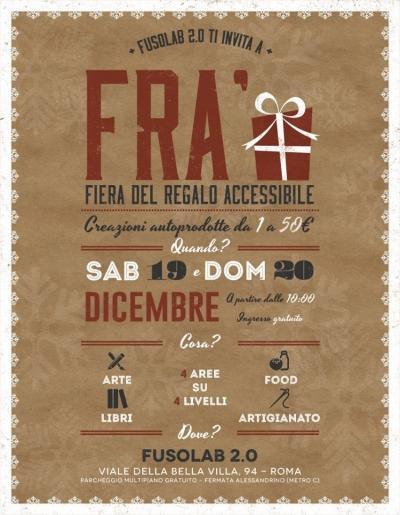 FRA' - Fiera Regalo Accessibile - 19 e 20 dicembre