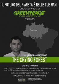"""Proiezione """"The Crying Forest"""" di Gabriel Elizondo - Sabato 19 Gennaio"""