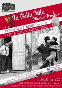 La Bella Villa – Milonga Popolare - 16 Febbraio
